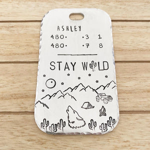 Desert Howler- Luggage Tag - Copper Paws Dog Tags