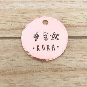 Coral- Summer Collection - Copper Paws Dog Tags