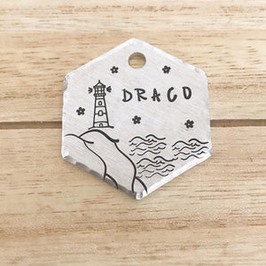Lighthouse- Summer Collection - Copper Paws Dog Tags