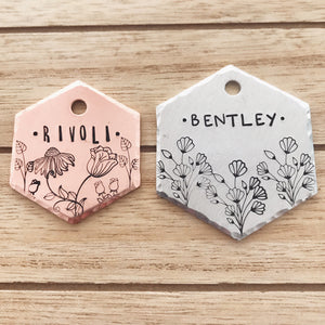 "1.5"" Tag Sizing Upgrade- (circle/hexagon only) - Copper Paws Dog Tags"