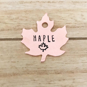 Maple Special- Fall Collection - Copper Paws Dog Tags
