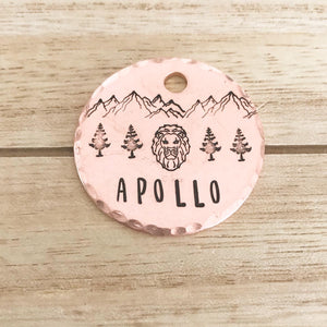 Leo- Simple Style - Copper Paws Dog Tags