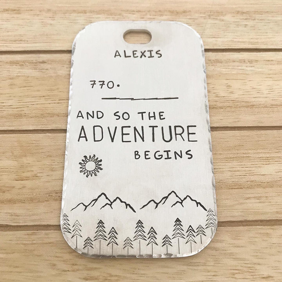 The Adventure Begins- Luggage Tag - Copper Paws