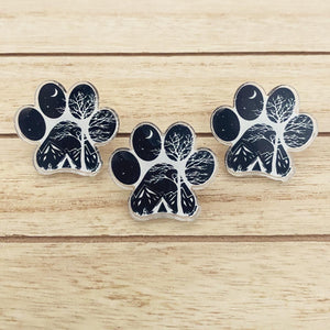 Camp Paw Acrylic Pin