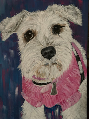 Hand-Painted Pet Portrait