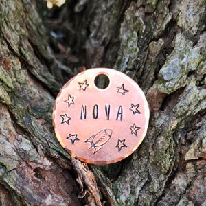 Space Cats- Kitty Tag - Copper Paws Dog Tags