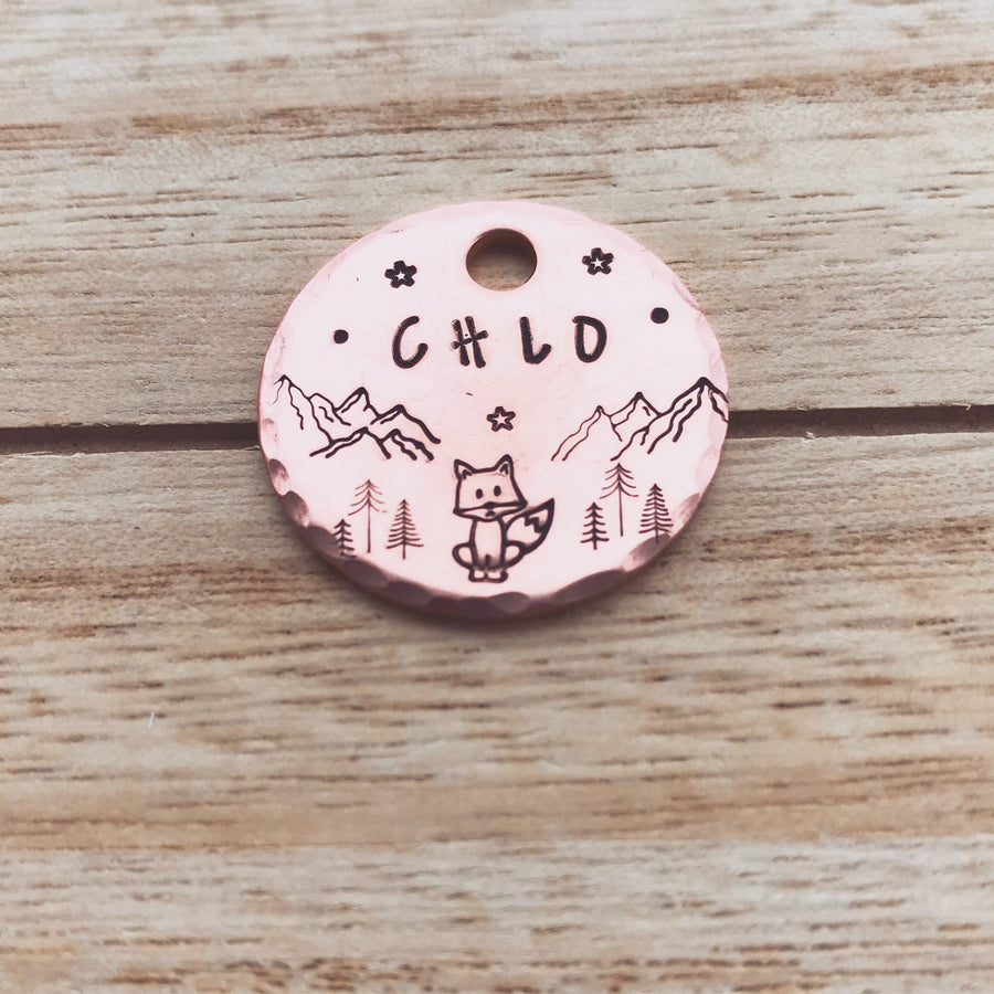 Night Fox- Kitty Tag - Copper Paws Dog Tags