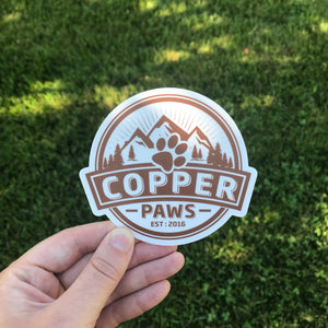 Logo Bumper Sticker - Copper Paws