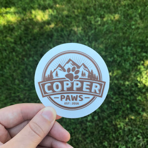 Vinyl Logo Sticker - Copper Paws Dog Tags