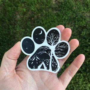 Camp Paw Sticker - Copper Paws Dog Tags