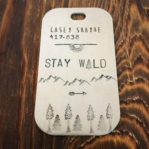 Stay Wild- Luggage Tag - Copper Paws