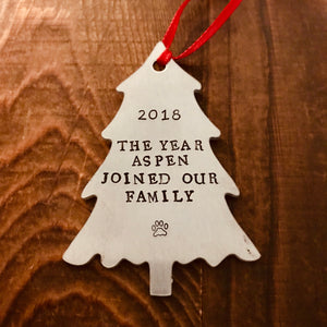 Pine Tree Ornament - Copper Paws Dog Tags