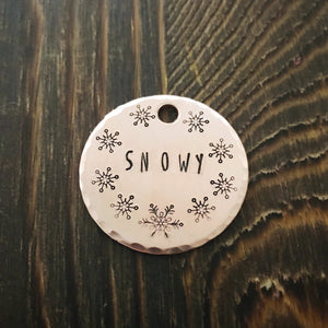 Snowy- Kitty Tag - Copper Paws