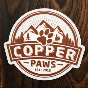 Logo Bumper Sticker - Copper Paws Dog Tags