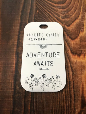 Adventure Awaits- Luggage Tag - Copper Paws