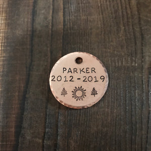 Memorial Tag - Copper Paws Dog Tags