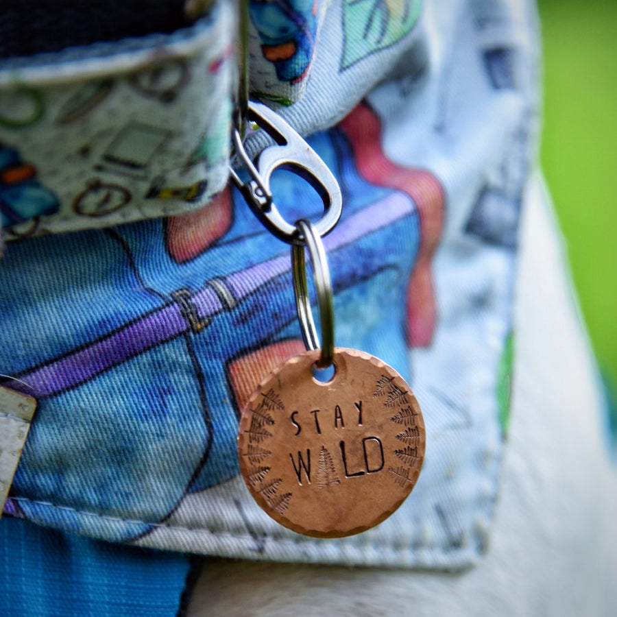 Stay Wild - Copper Paws Dog Tags