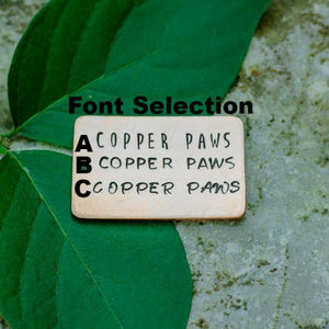 Gram- Simple Style - Copper Paws Dog Tags