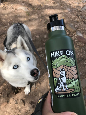 Hike On Sticker - Copper Paws Dog Tags