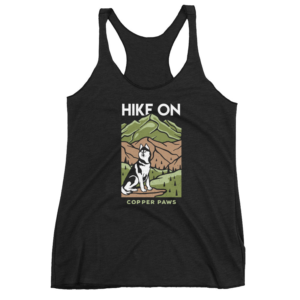 Hike On Women's Tank - Copper Paws Dog Tags