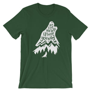 Wild Wolf Tee - Copper Paws