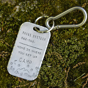 Set Up Camp- Luggage Tag