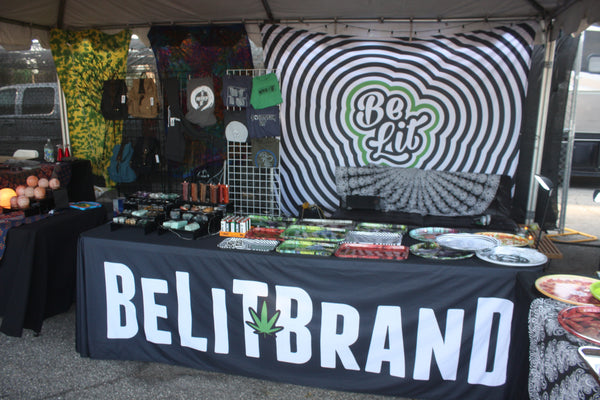 Be Lit Brand Booth at High Times Cannabis Cup