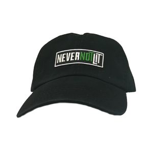 "Be Lit Dad Hat in Black, ""Never Not Lit"" Patchbelitbrandbelitbrand"