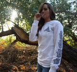 "Long Sleeve Shirt, White ""Hamsa""Be Lit Brandbelitbrand"