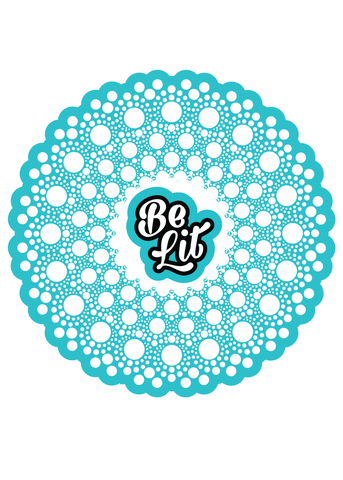 Be Lit Premium Sticker, Lit Mandala