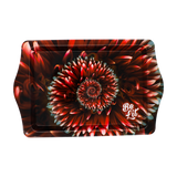 Be Lit Travel Rolling Tray, Red-Spiral-FlowerbelitbrandBe Lit Brand