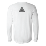 "Long Sleeve Shirt, White ""Namaste Lit""Be Lit Brandbelitbrand"