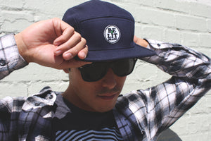 "Be Lit 5-Panel Hat in Navy, ""Be Lit Brand"" PatchBe Lit Brandbelitbrand"