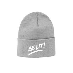 "Be Lit Beanie in Charcoal Grey, ""Be Lit!"" Embroiderybelitbrandbelitbrand"
