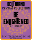 Be Lit Crystal Collection 5oz Odor Eliminating Candle, Be EnlightenedBe Lit Brandbelitbrand