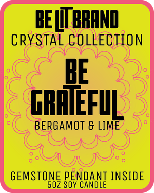 Be Lit Crystal Collection 5oz Odor Eliminating Candle, Be GratefulBe Lit Brandbelitbrand