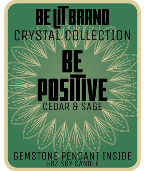Be Lit Crystal Collection 5oz Odor Eliminating Candle, Be PositiveBe Lit Brandbelitbrand