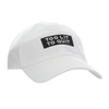 "Be Lit Dad Hat in White, ""Too Lit To Quit"" PatchBe Lit Brandbelitbrand"