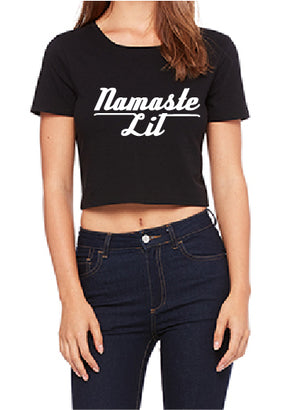 "Be Lit Crop Top, ""Namaste""Be Lit BrandTeesbelitbrand"