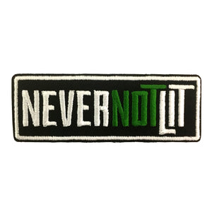 "Be Lit ""Never Not Lit"" Iron On Patch!Be Lit Brandbelitbrand"
