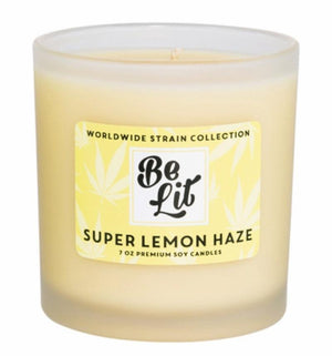 Be Lit Premium 7oz Odor Eliminating Candle, Super Lemon HazeBe Lit Brandbelitbrand