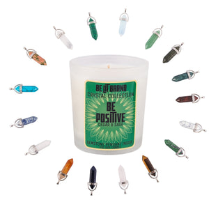Be Lit Crystal Collection 5oz Odor Eliminating Terpene Candle, Be Positivebelitbrandbelitbrand