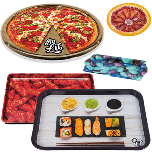 Foodie Rolling Tray & Ashtray BundleBe Lit Brandbelitbrand