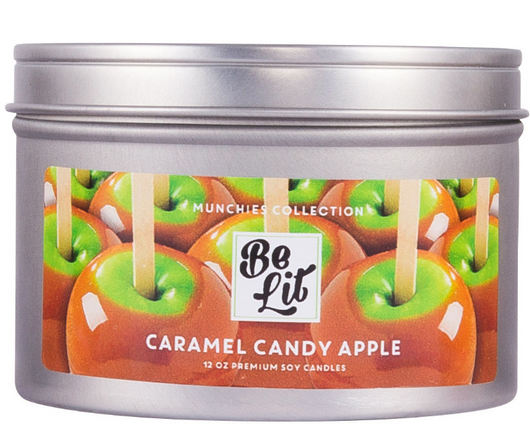 Be Lit Munchies Collection 12oz Candle, Caramel Candy Apple
