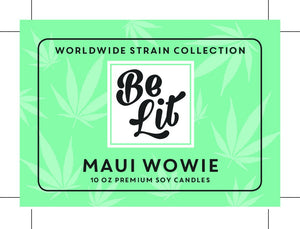 Be Lit Premium 7oz Odor Eliminating Candle, Maui WowieBe Lit Brandbelitbrand