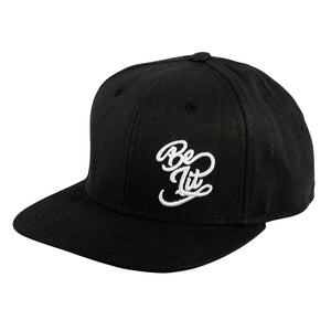 "Be Lit Snapback in Black, ""Be Lit"" Classic EmbroideryBe Lit BrandHatsbelitbrand"