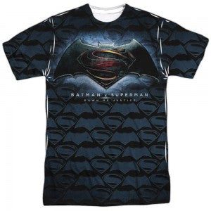 Batman v Superman Logo Pattern T Shirt