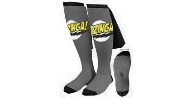 Gray Big Bang Theory Bazinga Caped Socks
