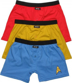 Star Trek Uniform Men's Boxer Briefs Set