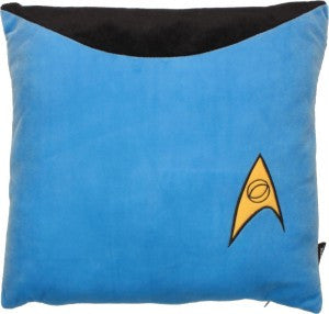 Star Trek Sciences Blue Pillow